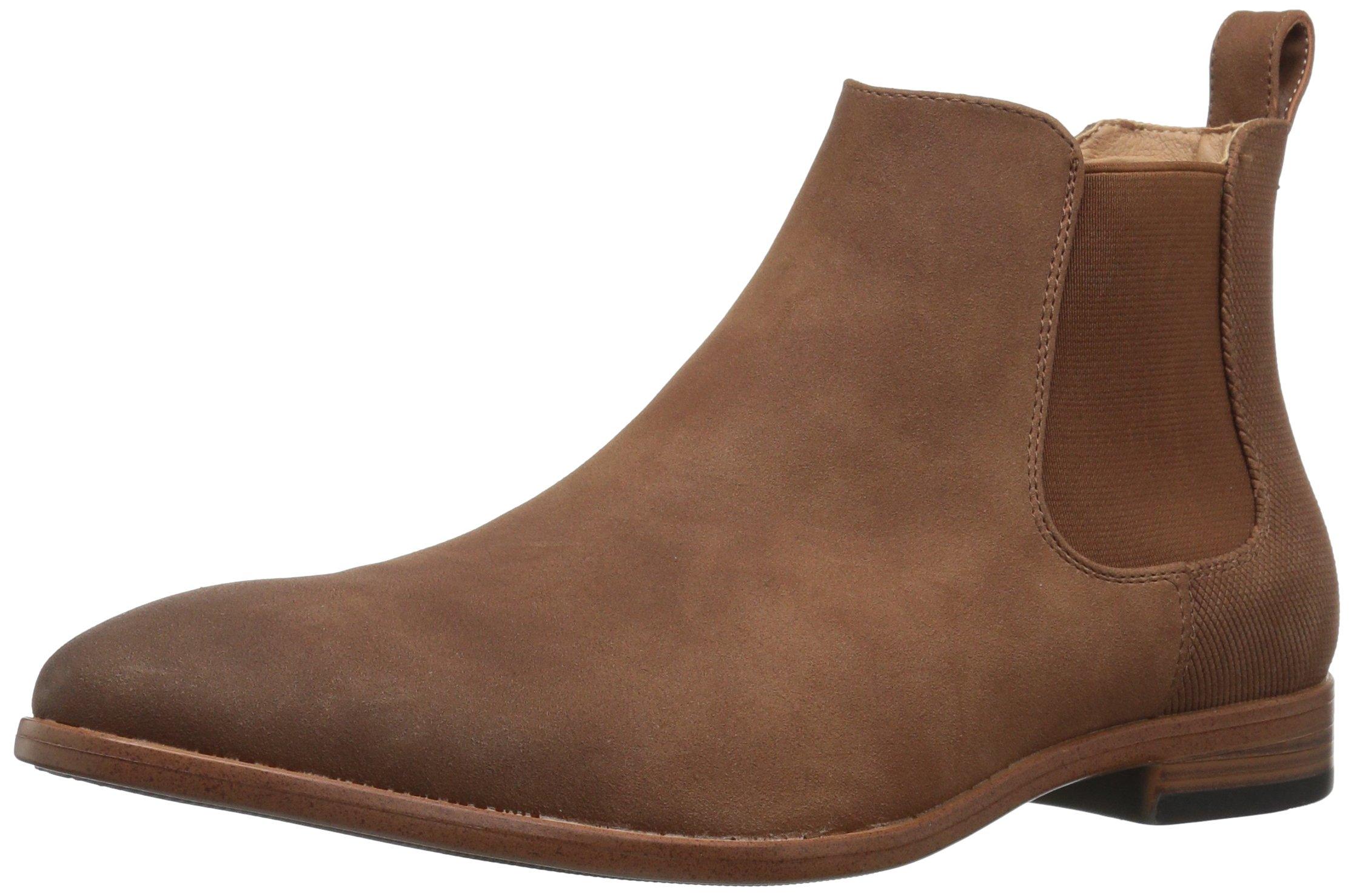 Madden Men's M-Grasp Chelsea Boot, Cognac Suede, 10.5 M US