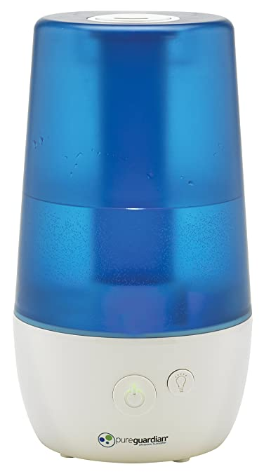 PureGuardian H965 Ultra-Quiet Ultrasonic Cool Mist Humidifier - 3.6L Capacity, 70-Hour Run Time - Easy to use - Low and High settings - Night light - Great ...