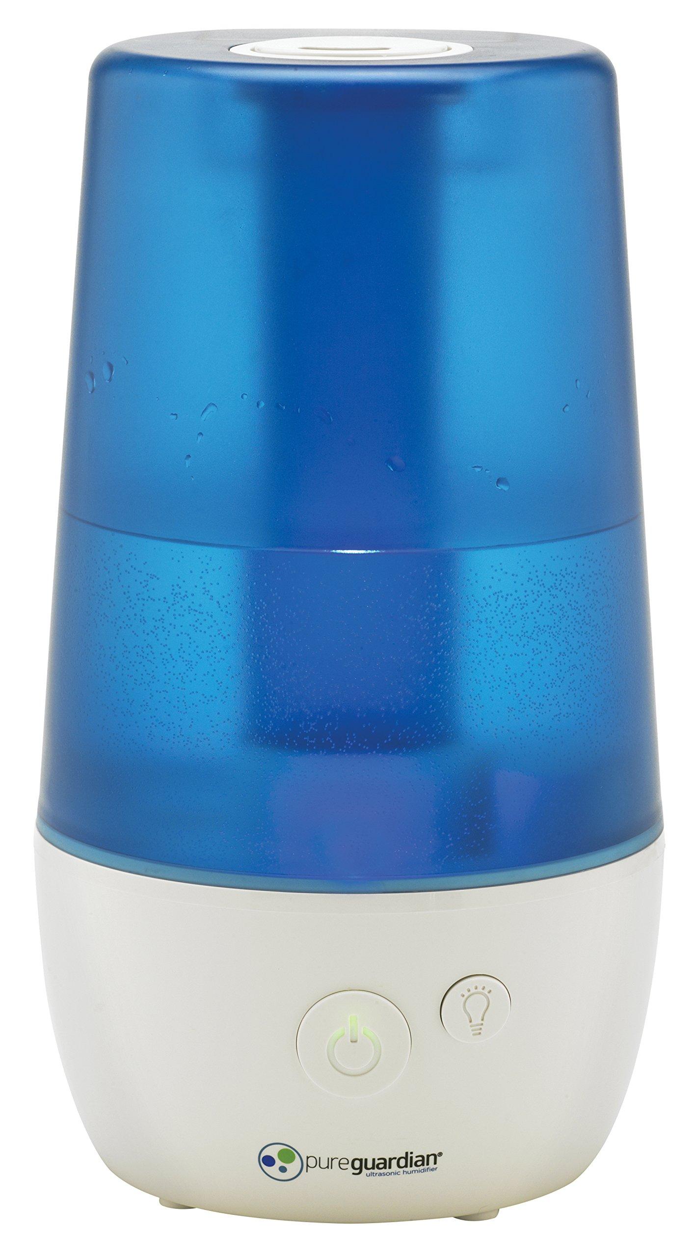 PureGuardian Ultrasonic Cool Mist Humidifier, 1 Gallon Tank, Personal Humidifier, Room Humidifier, Desktop Humidifier, Baby Humidifier, Small Humidifier, Pure Guardian H965