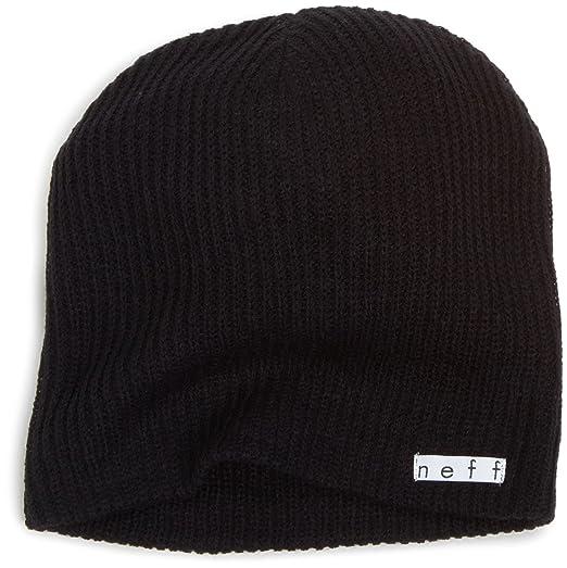 861bdf604081c6 Neff Unisex Daily Beanie, Warm, Slouchy, Soft Headwear, Black, One Size