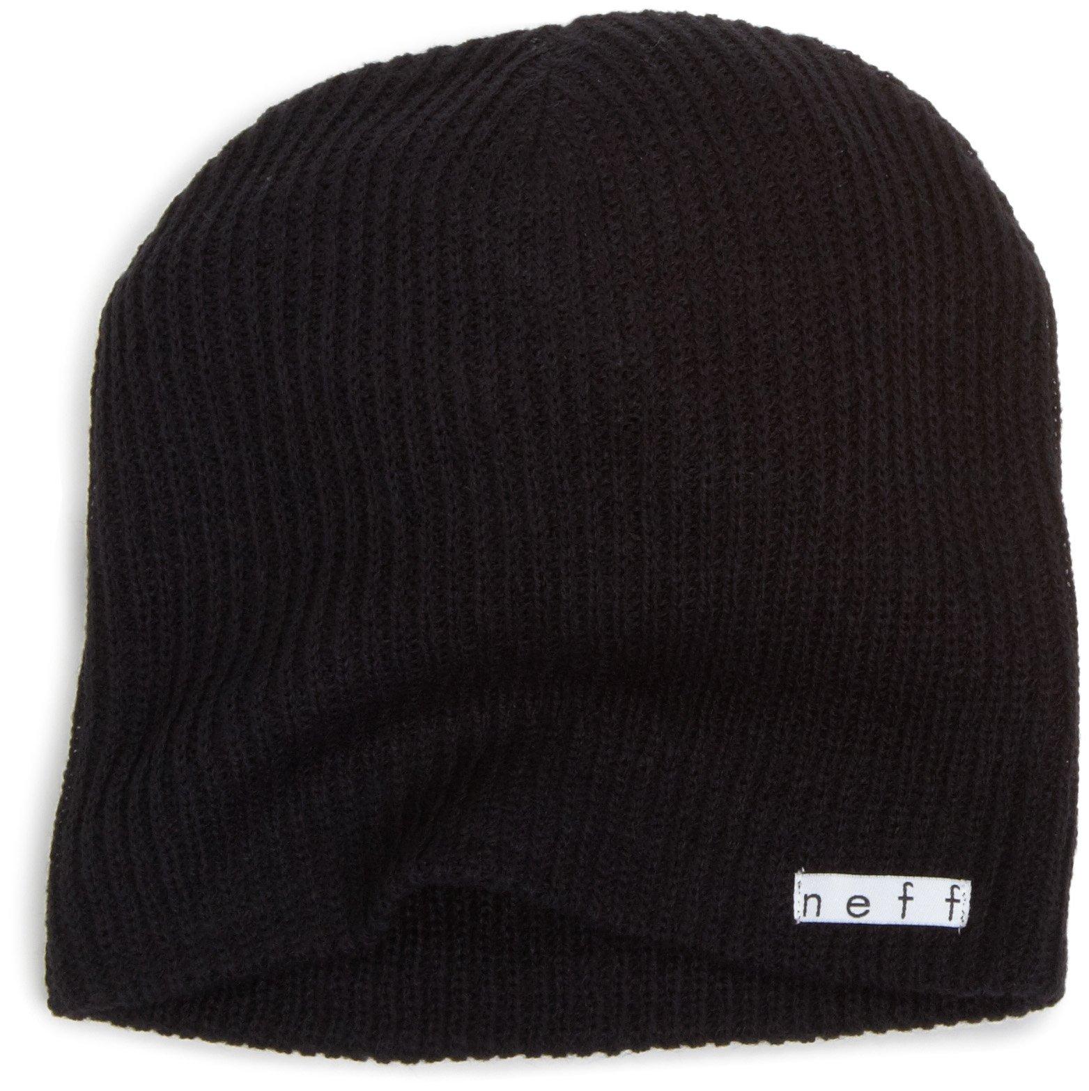 NEFF Unisex Daily Beanie, Warm, Slouchy, Soft Headwear, Black, One Size