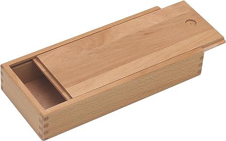 Paintersisters - Caja de madera de haya barnizada con tapa deslizante: Amazon.es: Hogar