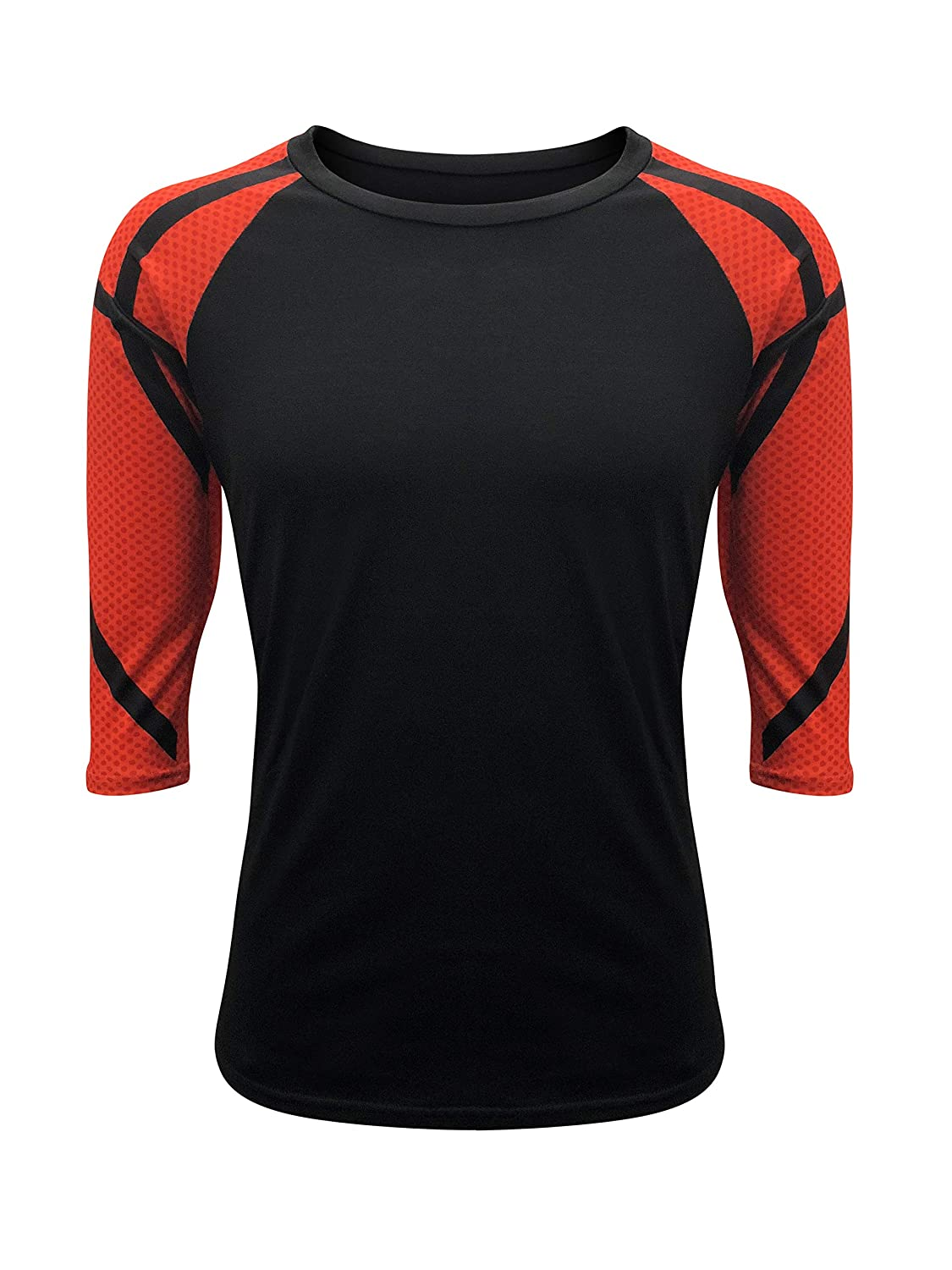 Iltex Basketball Raglan T Shirt Print Sleeves Sports Athletic Black