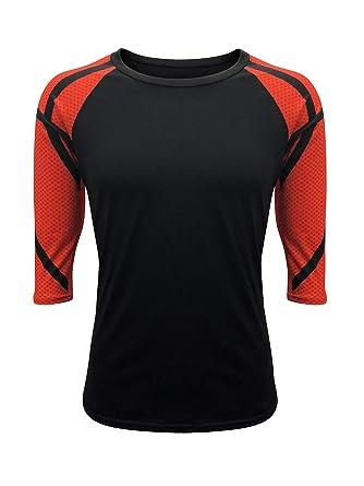 a3984777a00 ILTEX Basketball Raglan T-Shirt Print Sleeves Sports Athletic (Small) Black