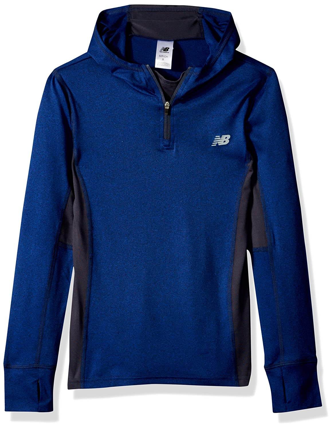 New Balance Kids Girls' Big Athletic Hooded Pullover Top