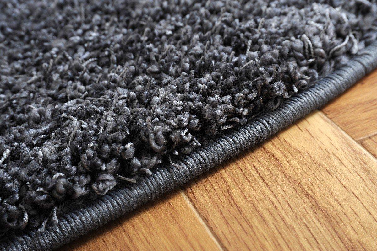 Havatex Luxus Shaggy Hochflor Teppich Comtesse rund - schadstoffgeprüft schadstoffgeprüft schadstoffgeprüft pflegeleicht strapazierfähig   schmutzabweisend edel dekorativ   Wohnzimmer Schlafzimmer, Farbe Anthrazit, Größe 100 cm rund 76eadc