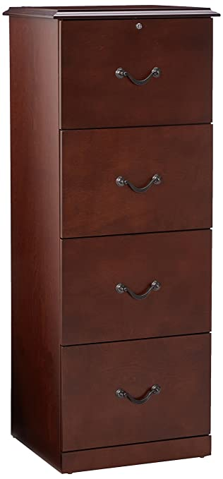 Exceptional Z Line Designs 4 Drawer Vertical File Cabinet, Cherry