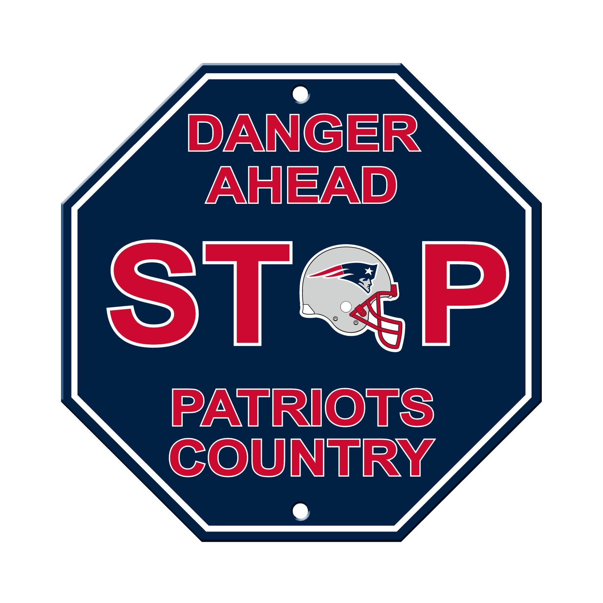 Fremont Die NFL New England Patriots Stop Sign