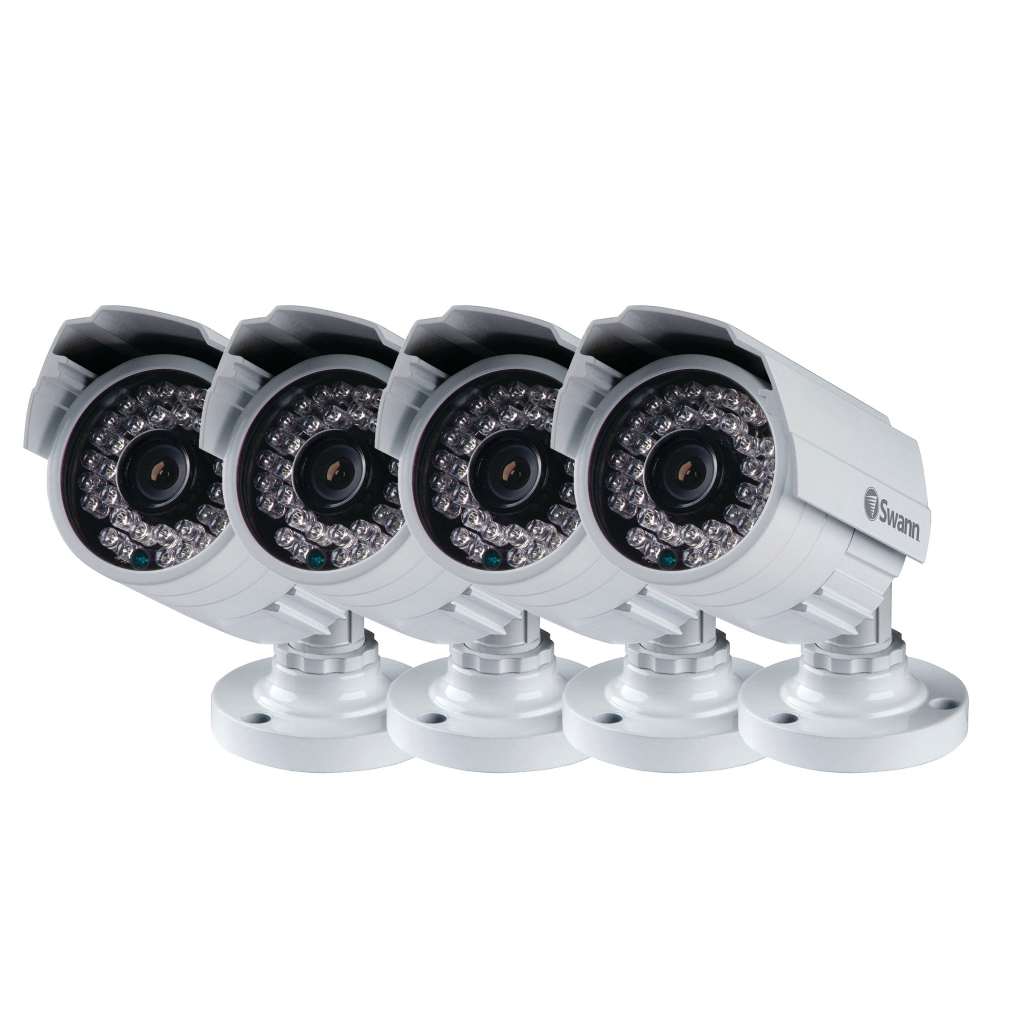 Swann SWPRO-842CAM-US-4PK 900TVL High-Resolution Day/Night Security Camera 85ft / 25m View