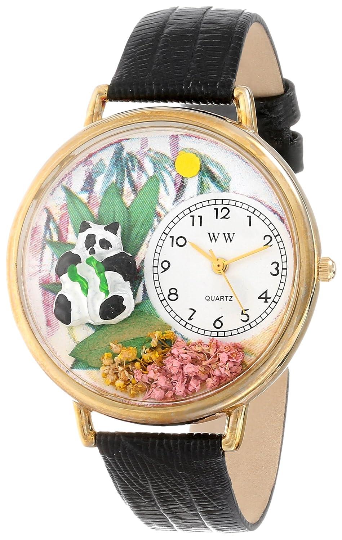 Whimsical Watches G-0150017 - Reloj analógico de cuarzo unisex, correa de cuero