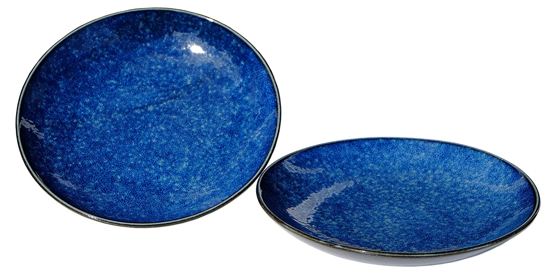 16,3 cm, 2 Unidades Goto Plato de Luna Azul Japonesa