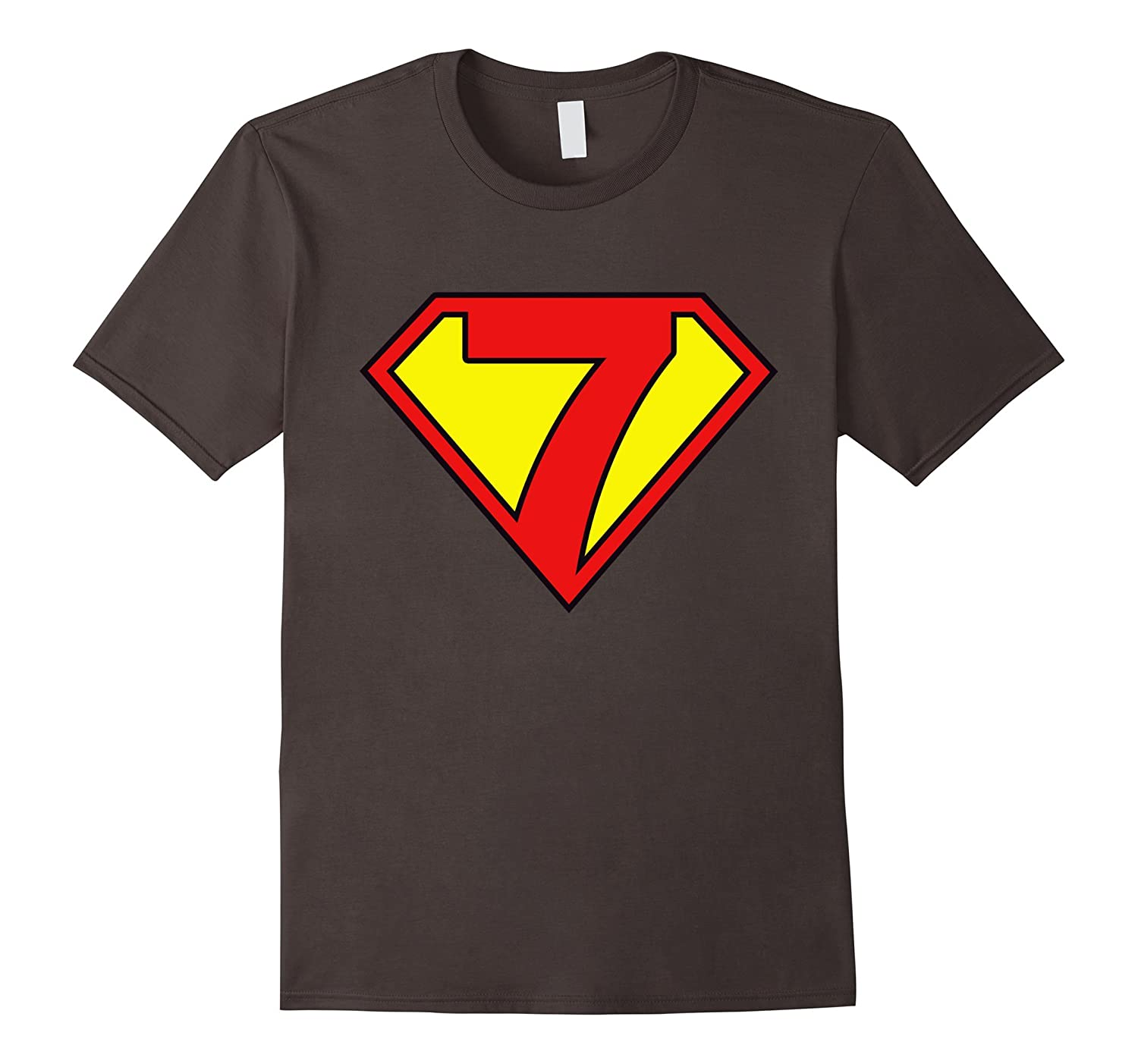 Super Hero 7th Birthday Tshirt Gift 7 Years Old Kid Boy Girl PL