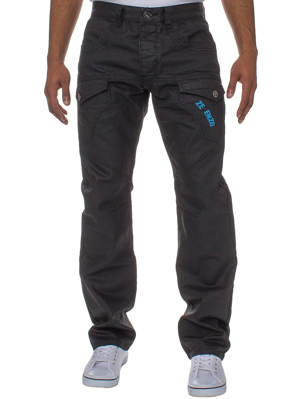 ENZO Men's Casual Branded Straight Regular Fit Denim Jeans Pants Sizes 28-42