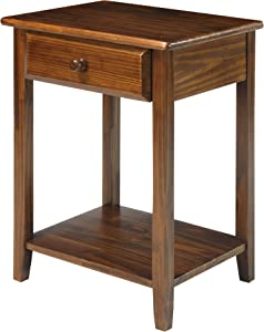 Casual Home USB Port Nightstand, Warm Brown (New)