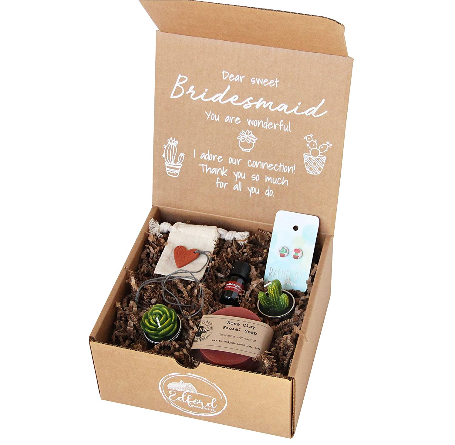 Amazon Com Terracotta Bridesmaid Gift All Natural Kraft For You