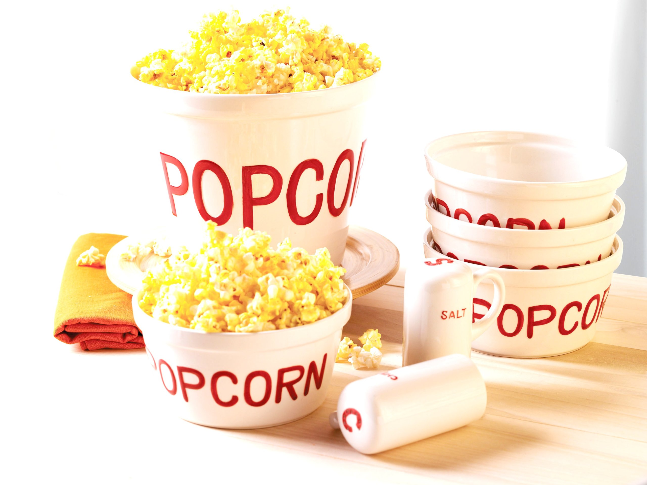 Everybody Loves 7-Piece Popcorn Set, Enjoy (JY)