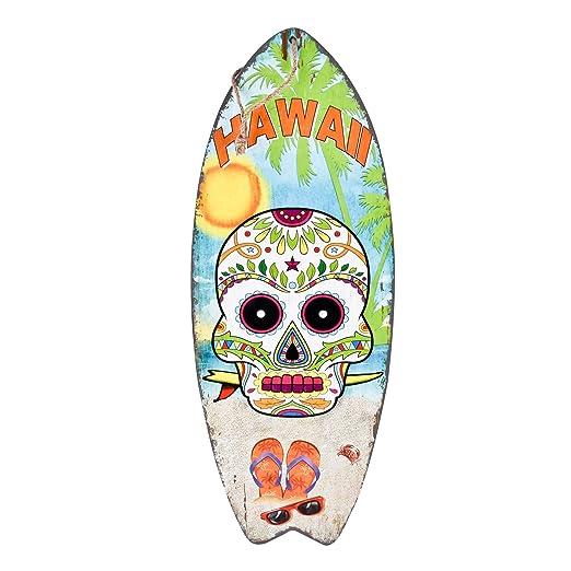 Dadeldo-Home Cartel de Madera Surf Beach Santa Muerte Diseño ...