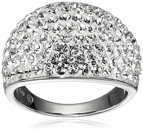 f2bae8a3f35dd Sterling Silver Ring with Swarovski Elements, Size 7