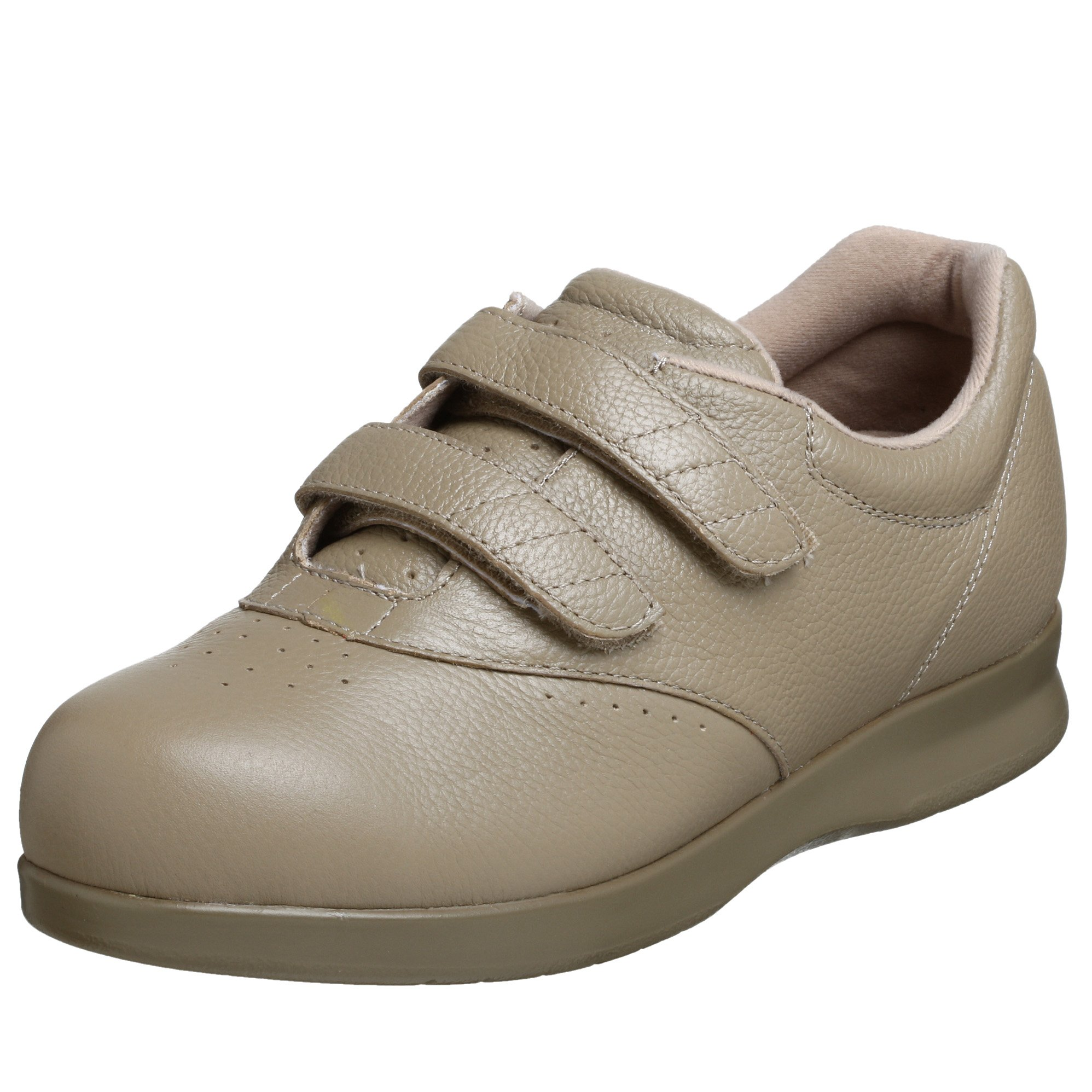 Drew Shoe Women's Paradise II Velco Slip-on,Taupe Calf,10 M US