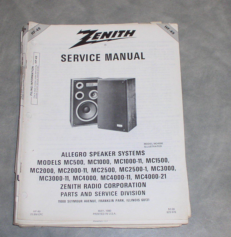 Zenith Radio Manual Samsung Sgh I900 Service Array Allegro Speaker Systems Rh Amazon Com