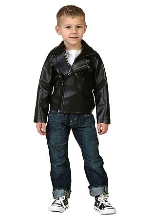 be984da63 Amazon.com: Toddler Boys Grease T-Birds Black Movie Jacket Costume: Clothing