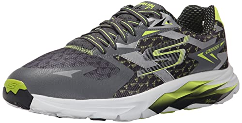 b4c817f470d7 Skechers Men s Go Run Ride 5 Charcoal and Lime Running Shoes - 11 UK India