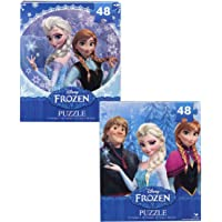Disney Frozen 48 Piece Jigsaw Puzzle Set of 2 - Elsa, Anna, Kristoff and Olaf