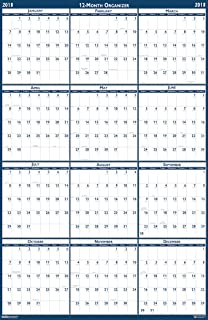 product image for House of Doolittle 2018 Laminated Wall Calendar, Reversible, Horizontal/Vertical, 18 x 24 Inches, January - December (HOD3960-18)