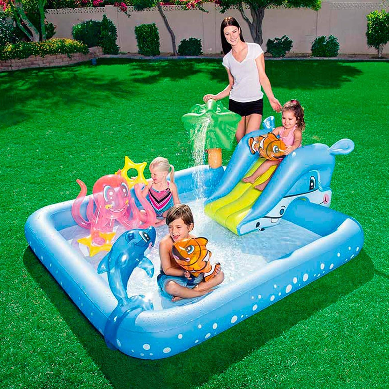 Bestway 53052 - Piscina Hinchable Infantil Acuario 239x206x86 cm con Tobogán: Amazon.es: Juguetes y juegos