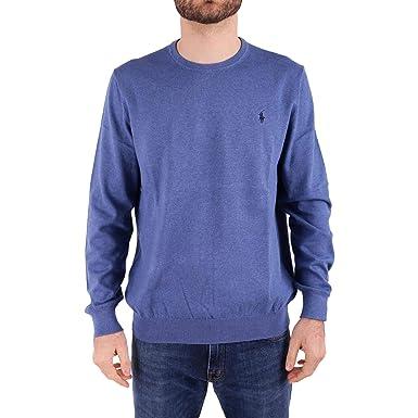 Ralph Lauren Hombre 710694385006 Azul Algodon Sudadera: Amazon.es: Ropa y accesorios