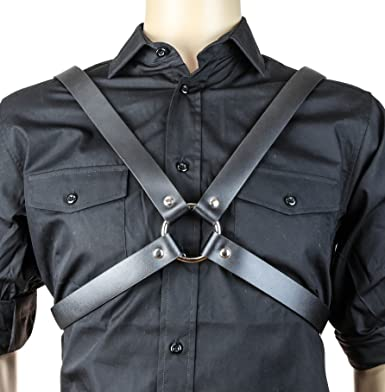 bondage harness Body harness Men leather harness Men/'s harness men/'s leather accessory Body belt Men/'s harness with big Ring
