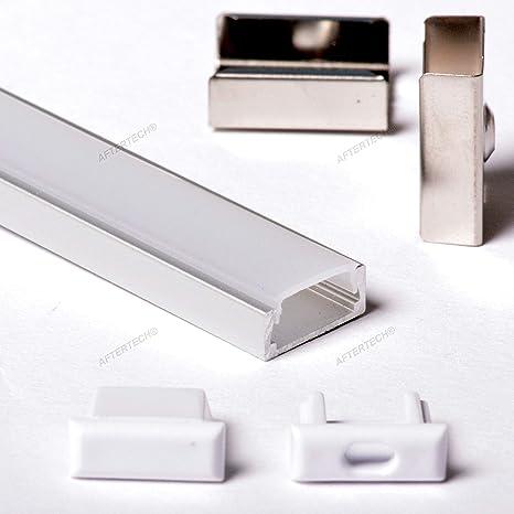 Barra Profilo ANGOLARE 2m per strisce LED in alluminio con protezione satinato