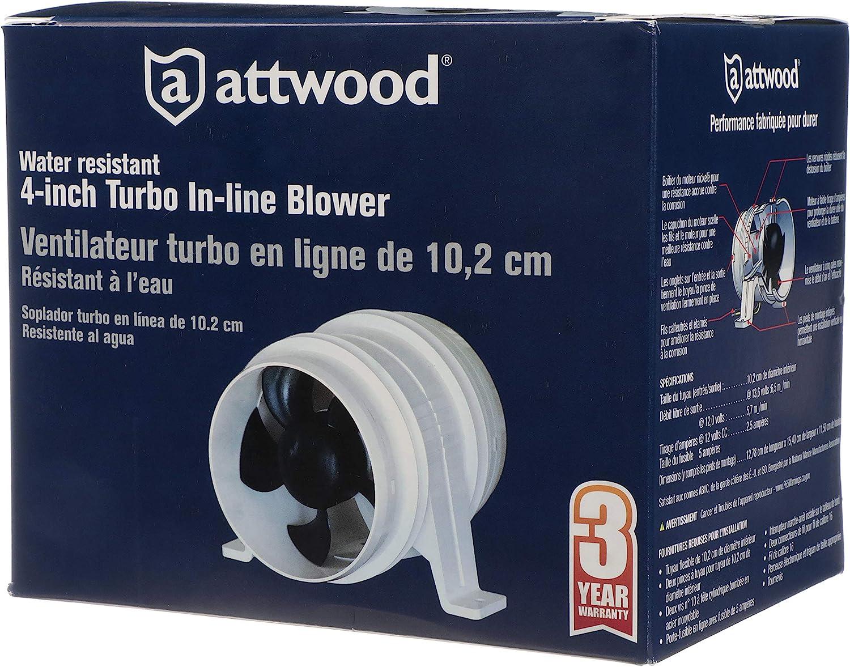 102 mm Attwood 1749-4 Estrattore Turbo 4000,12 V impermeabile