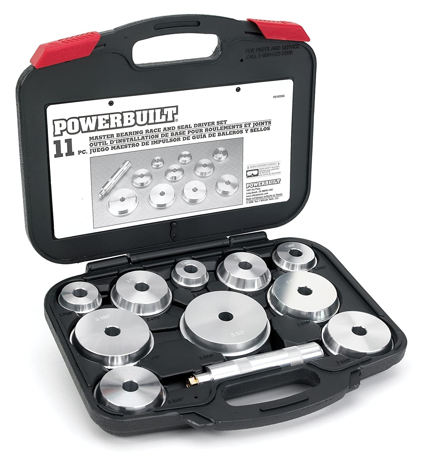 Powerbuilt Alltrade 648996 Kit 66 Master Bearing Race and Seal Driver Tool Set