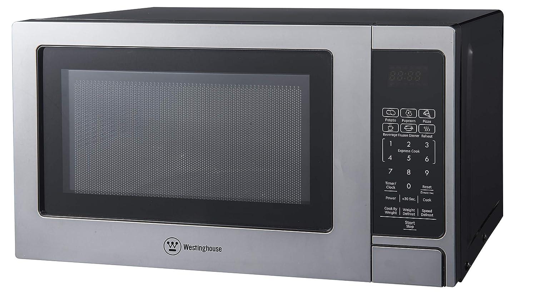 Westinghouse Stainless Steel Countertop Microwave Oven, 700-Watt, 0.7-Cubic Feet