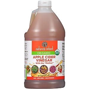 Nature's Intent Organic Apple Cider Vinegar, 64 Fluid Ounce