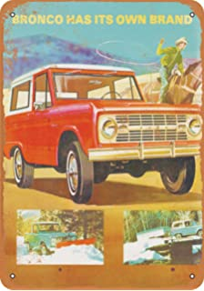 amazon wall color 7 x 10 metal sign 1972 ford maverick 1967 Ford Falcon wall color 7 x 10 metal sign 1967 ford bronco vintage look reproduction