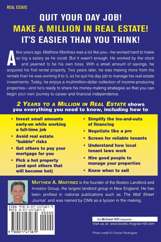 2 Years To A Million In Real Estate: Matthew Martinez: 9780071471879:  Amazon: Books
