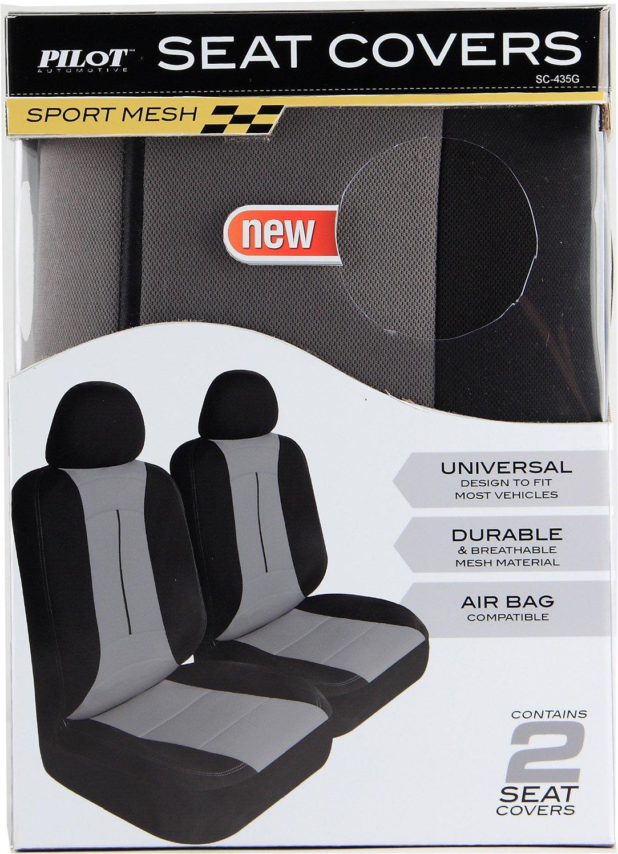 Pilot Automotive SC-435G Gray 6-Piece Pro Comp Mesh Seat Cover Set