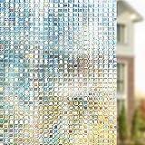 rabbitgoo 3D Decorative Window Film, Non-Adhesive