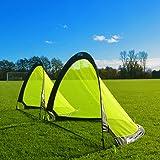 FORZA Flash Pop-Up Football Goals [Pair] (2.5ft, 4ft or 6ft) – The BEST Pop-Up Football Goal For Instant Fun [Net World Sports]