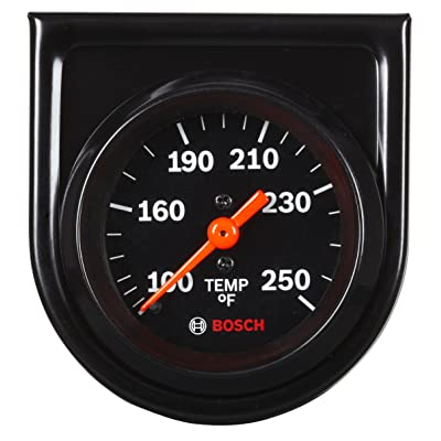 "Bosch SP0F000053 Style Line 2"" Mechanical Water/Oil Temperature Gauge (Black Dial Face, Black Bezel): Automotive"