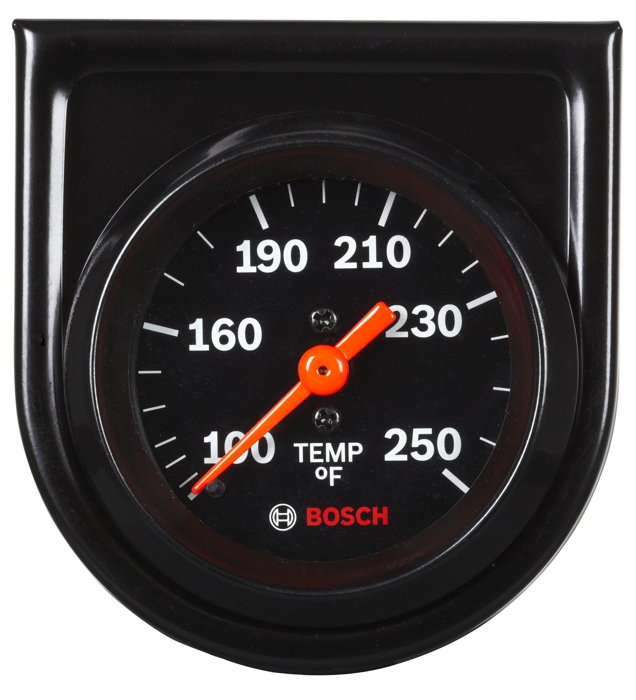 Bosch SP0F000053 Style Line 2'' Mechanical Water/Oil Temperature Gauge (Black Dial Face, Black Bezel)