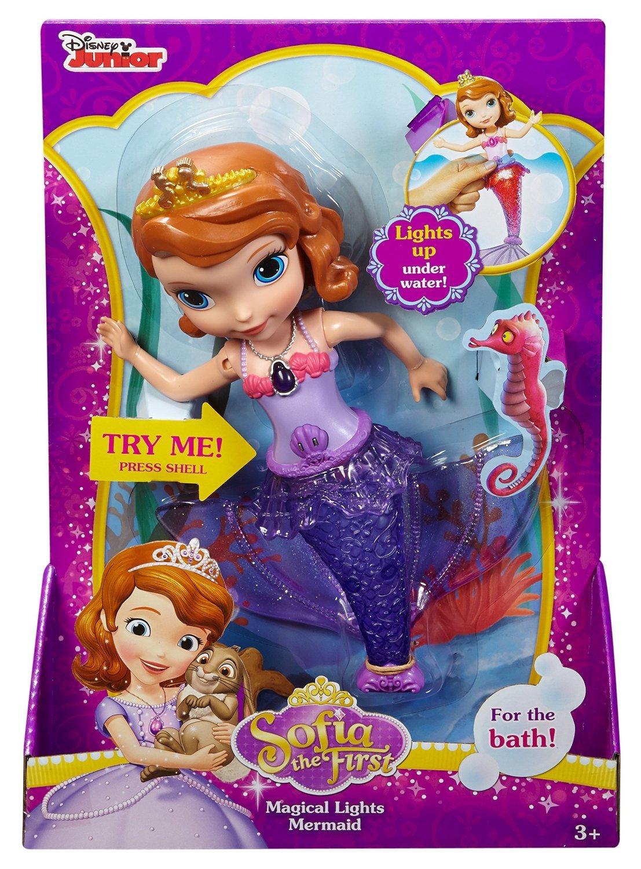Buy Mattel Disney Sofia The First Mermaid Sofia Bath Doll Multi  # Muebles Bazar Santa Sofia