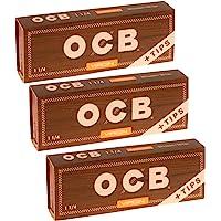OCB Virgin Organic papel de liar y puntas – 3 paquetes – 50 papeles/puntas cada uno