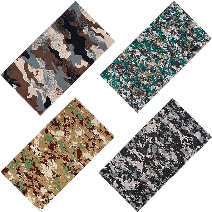 New 2019//20 Camouflage Patterned Colourful Unisex Camo Bandana Head Neck Scarf