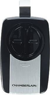 chamberlain klik3u ss 2 button garage door opener remote with visor clip silver - How To Program Chamberlain Garage Door Opener