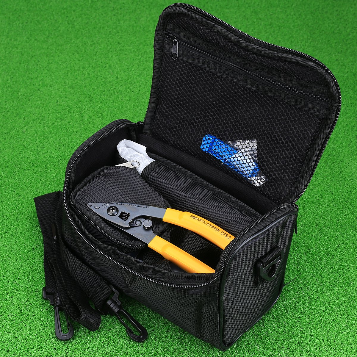 FTTH Fiber Optic Tool Kit with Fiber Fibra Optica Power Meter and Visual Fault Locator and Cable Cutter Stripper FC-6S Fiber Cleaver by Cruiser (Image #2)