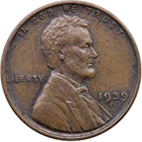 1939 D Lincoln Wheat Cent Extra Fine Penny