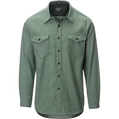 Pendleton Men's Fitted Cascade Denim Shirt at Amazon Men's ...